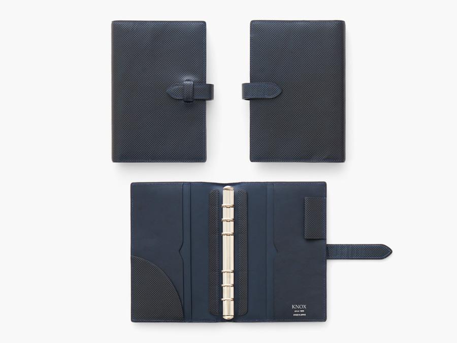 システム手帳 バイブルサイズ(ブルー)