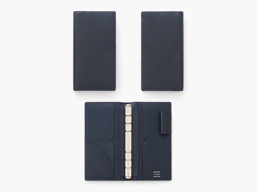 システム手帳 ナローサイズ(ブルー)