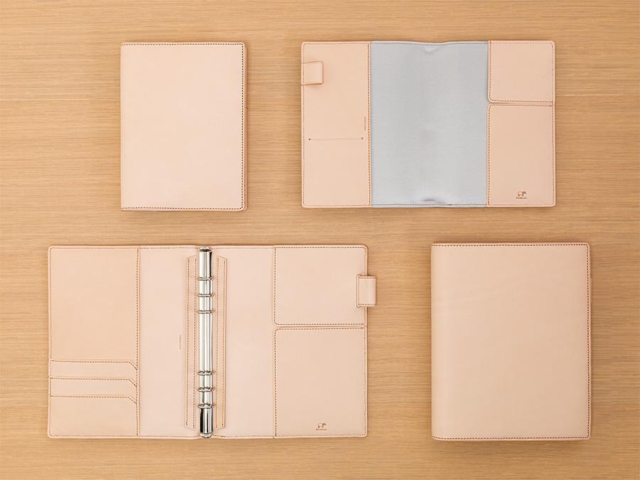 ナチュラルタンレザー ダイアリー&ノートカバー B6、システム手帳 A5サイズ